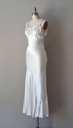 vintage 1930s Elegie bias silk gown | https://www.etsy.com/listing/99819705/1930s-wedding-dress-30s-dress-bias-silk #vintage #vintagewedding