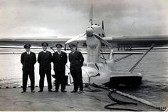 https://flic.kr/p/a2rAgv | Dornier Do 18D-1 D-ARUN Zephir | Dornier Do 18D-1 D-ARUN Zephir (w/n 663) after the first North Atlantic mail crossing to New York in September 1936. From left- Flight Engineer Eger, Flugkapitan Count Schack, Flugkapitan Blankenburg, Radio Operator Ehlberg. Zephir first flew on 16 July 1936. It was delivered to DLH on 25 August 1936. In 1939 it was withdrawn from use, later serving with the Luftwaffe.  via 314clipper @ The Old Hangar forum