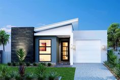 Home design ideas. 3 bedroom. 2.5 bathroom. 1 car. 143 m2. Image: Forestdale 143 - Element Metro Series, Urban façade. #GJQLD #GJNSW. ph:132 789 www.GJGardner.com.au