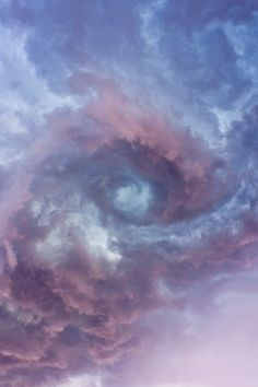Spirals in the cloud formation