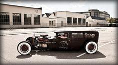 Family Size Rat Rod 1927 Dodge 4-Door Sedan Hot Rod by Sasse van Essen by Pixeleye Interactive // Dirk Behlau, via Flickr