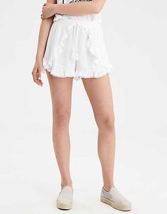ec46820679 AE Pom Pom Tulip Short American Eagle Outfitters Shorts, Lace Shorts, White  Shorts,