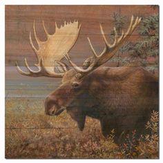 Moose Wooden Wall Art defplanet.com