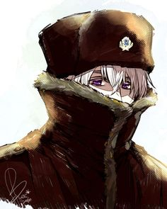 Winter- I love how defined Russia's eyes are.