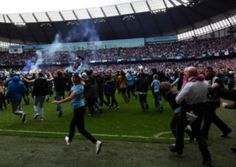 Manchester City clinched their second Premier League title in three years after they defeated West Ham on the final day of the seaon at the Ethiad Stadium. Manchester City, Premier League, Soccer, Gallery, Sports, Hs Sports, Futbol, Roof Rack, European Football