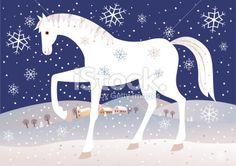 Martin na bielom koni november) Art For Kids, Crafts For Kids, Winter Horse, Christmas Art Projects, Christmas Horses, Winter Kids, Horse Art, Free Vector Art, Holidays And Events