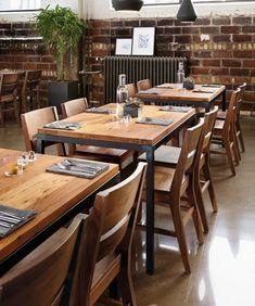 Modern café and restaurant design ideas for hospitality environments. Next Restaurant, Restaurant Design, Modern Cafe, Retail Space, Modern Spaces, Commercial Interiors, Hospitality, Restaurants, Business
