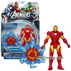 Hasbro Year 2013 Marvel Avengers Assemble S.H.I.E.L.D. Gear Series 4 Inch Tall Action Figure - TORNADO BLADE IRON MAN with Shield Blade