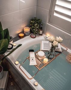 Bath time is essential for women. We can relax and just let our hair down for - Best Decoration My New Room, My Room, Bathtub Caddy, Bathtub Decor, Bathtub Tray, Bath Trays, Bathroom Candles, Deep Bathtub, Bathtub Shower
