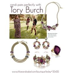 Botanica pairs perfectly with Tory Burch. www.chloeandisabel.com/boutique/lesley#35435