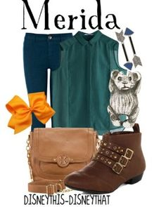 Disney princess Merida outfit : from brave the movie
