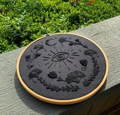 Another custom black on black embroidery ? : Embroidery Witch aesthetics Another custom black on black embroidery ? Embroidery On Clothes, Simple Embroidery, Shirt Embroidery, Hand Embroidery Stitches, Modern Embroidery, Embroidery Hoop Art, Crewel Embroidery, Cross Stitch Embroidery, Embroidery Designs