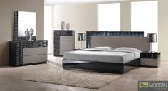 Onda Modern Textured Bedroom Set