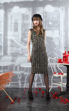 Even I could go for this gold. Lyla Sequin Dress at Alice + Olivia
