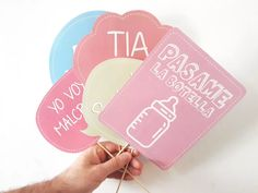 photobooth props cartelitos kit baby shower personalizado