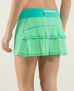 Lululemon Run: Pace Setter Skirt (Regular) *4-way Stretch $58.001/8 Stripe Printed Bali Breeze/Bali Breeze ~