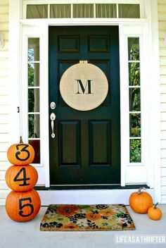 LOVE the address numbers on the pumpkins! Definitely doing this.
