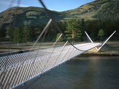 River Dee suspension bridge to create new Cairngorm gateway, January News, Architecture and the built environment is an integral part of our society and we hope to provide a useful platform for debate, information and inspiration. Landscape Structure, In Plan, Precast Concrete, Bridge Design, Suspension Bridge, Built Environment, Urban Planning, Pedestrian, Pavilion