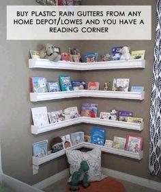 Book shelf our of rain gutters