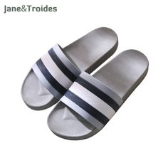 f4191f37b91890 Jane   Troides Summer Non-slip Men Slippers Indoor Outdoor Soft Comfortable Flip  Flops Striped Casual Sandals Fashion Man Shoes
