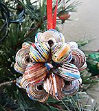 Christmas Ornaments handmade in Haiti out of cereal box beads!  Liberate, partnered with ApParent Project