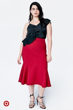 5e191111cf45 Bring a high-style look to every party with ruffles and asymmetrical picks  from Who