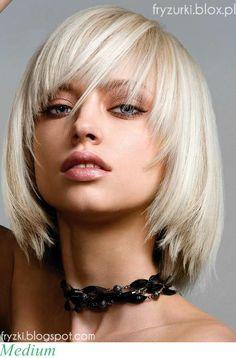Modna fryzura 2013 : średnie włosy z grzywką