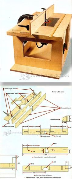 DIY Router Table Fence - Router Tips, Jigs and Fixtures | WoodArchivist.com #WoodworkingTools