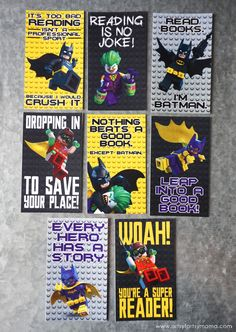 Encourage reading with The @LEGO Batman Movie books and Free Printable LEGO Batman Bookmarks