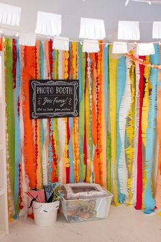 cute background for a photobooth (great way to get pics of your wardrobe for your closet!)