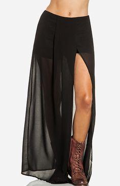 Sheer Maxi Skirt in Royal blue M - L | DAILYLOOK