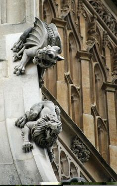 Inspiration for upcoming mystery novel, Liberty Smith. Gargoyles on the Houses of Parliament - London