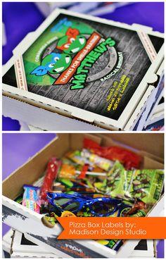 Teenage Mutant Ninja Turtle TMNT Pizza Box by MadisonDesignShop