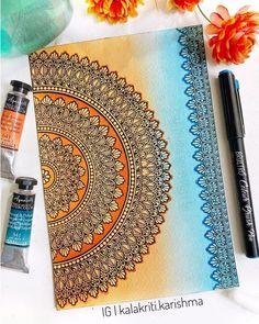 Mandala Sketch, Watercolor Mandala, Mandala Doodle, Mandala Drawing, Mandala Art Lesson, Mandala Artwork, Mandala Painting, Doodle Art Drawing, Cool Art Drawings