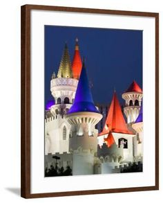 'Excalibur Casino, Las Vegas, Nevada, USA' Photographic Print - Walter Bibikow   Art.com Yosemite National Park, National Parks, Excalibur Casino, Nevada Usa, Las Vegas Nevada, Ways Of Seeing, Framed Artwork
