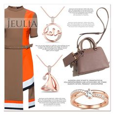 """""""Jeulia Brown Fashion"""" by lucky-1990 ❤ liked on Polyvore featuring Lattori, jewelry and jeulia"""