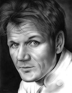 Chef Gordon Ramsay - pencil sketch by www.gregjoens.com