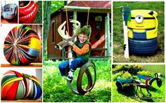 rendre heureux les enfants avec une balançoire de jardin DIY