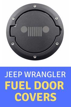 Matte Fuel Filler Door Cover Gas Tank Cap For 07-18 Jeep Wrangler JK 2//4 Door