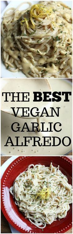 The best vegan garlic alfredo sauce as rated by readers! So easy and just 7 ingredients and so creamy delicious! Totally dairy-free and oil-free! via @thevegan8