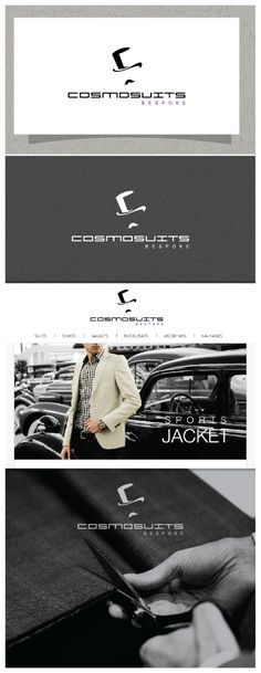 Logo for COSMOSUITS bespoke design by Gri Di