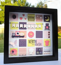 Hybrid Frame Art - My Digital Studio. Stampin up collage shadow box frame.