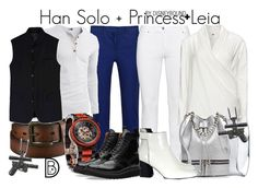 Han Solo + Princess Leia by leslieakay on Polyvore featuring polyvore, fashion, style, Steilmann, Proenza Schouler, MANU Atelier, BERRICLE, D.GNAK by KANG.D, DKNY, Grenson, Uniqlo, adidas, women's clothing, women's fashion, women, female, woman, misses, juniors, disney, disneybound and valentinesday