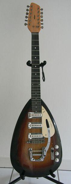 1965 Vox Mark XII Awesome 12 String Electric Guitar Very RARE Original Case | eBay