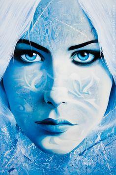 Portrait by street artist NOE TWO ~  http://www.noetwo-gallery.com/