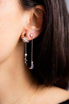Gold Heart Stud Earrings/ Minimalist Earrings/ Heart Earrings/ Rose Gold Earrings/ Gift for Her/ Dainty Earrings/ Tiny Gold Heart Studs/ Soul mates aren't limited to what we've seen in storybooks. Ear Jewelry, Cute Jewelry, Jewelery, Jewelry Accessories, Jewelry Design, Jewelry Ideas, Jewelry Box, Silver Jewelry, Indian Jewelry