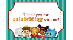 Print out your very own Daniel Tiger thank you cards from @PBS Parents!