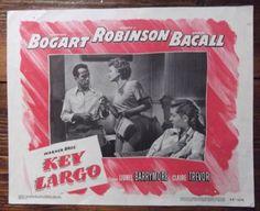Key Largo, Original Lobby Card, Humphrey Bogart, Lauren Bacall classic, 1948. £195.00. In the store now