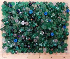 600 Emerald Azuro Green Mix Preciosa Czech Glass Bulk Facet Rondelle Disc Beads #PreciosaOrnela #FirePolished