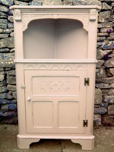 Low corner unit given a shabby Chic Facelift.rubbed down,painted in Farrow & Ball paint, distressed and waxed